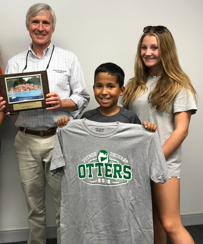 Dr. Charles Harrington DDS Sponsoring the Quince Orchard Otters